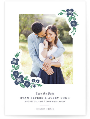 Posy Letterpress Save The Date Cards