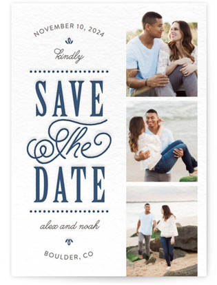 photo of Modern Romance Letterpress Save The Date Cards