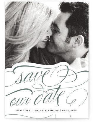 Timeless Letterpress Save The Date Cards