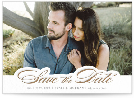 Classically Pressed Letterpress Save The Date Cards
