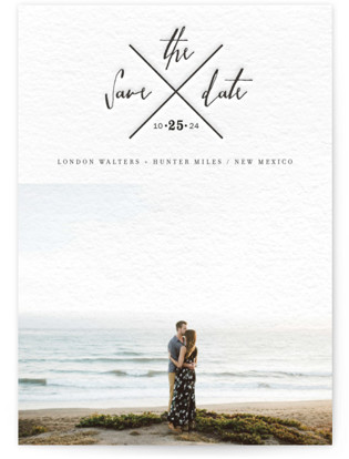 photo of Cross My Heart Letterpress Save The Date Cards