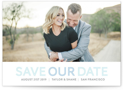 accentuated Letterpress Save the Date Cards