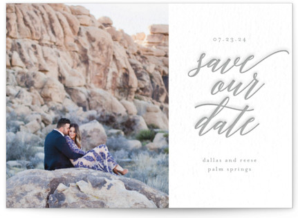 Letterpress Dreams Letterpress Save The Date Cards