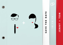 Visage Save The Date Minibooks By Marabou Design