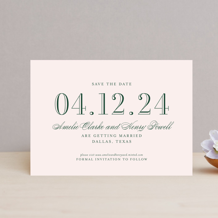 """""""Hepburn"""" - Save The Date Petite Cards in Rose by Toast & Laurel."""
