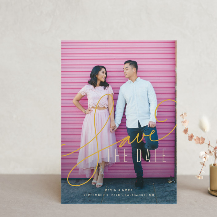 """""""Signature"""" - Save The Date Petite Cards in Antique by Jessica Williams."""