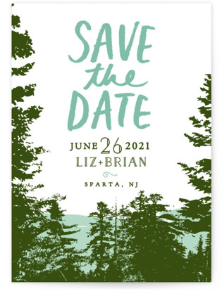 Mountain View Save the Date Petite Cards