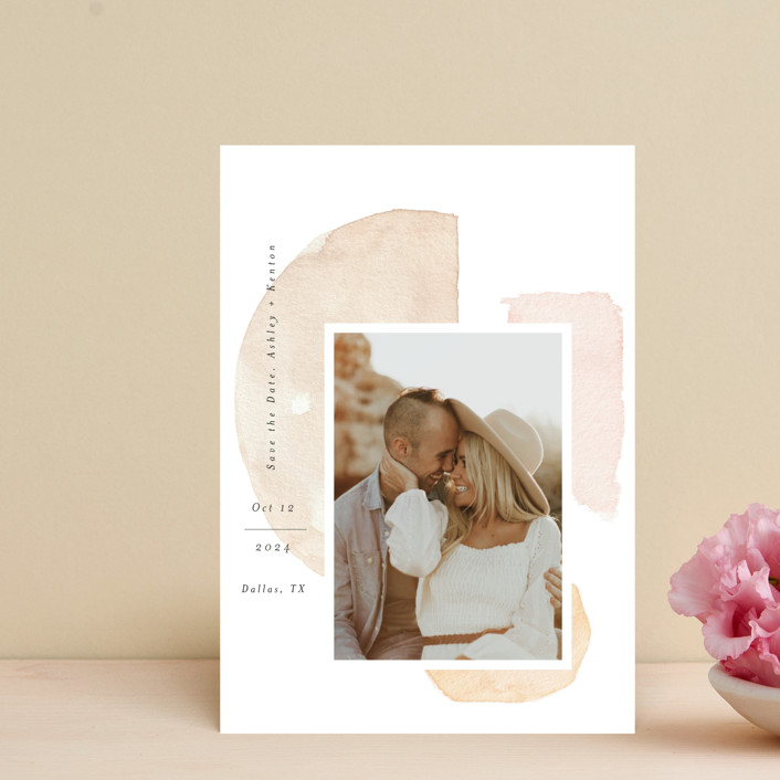 """""""Fika"""" - Rustic Save The Date Petite Cards in Earth by Itsy Belle Studio."""