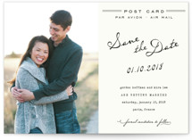 Airmail Save the Date Petite Cards