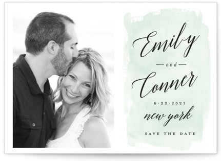 photo of An Angle Save The Date Petite Cards