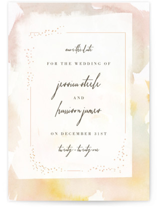 photo of Pretty Save The Date Petite Cards
