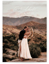 This is a white petite save the date by Alethea and Ruth called Simple Celebrate with standard printing on smooth signature in petite.