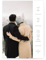 This is a white petite save the date by Toast & Laurel called Hudson with standard printing on smooth signature in petite.