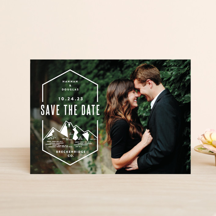 """""""Modern Rusticism"""" - Save The Date Petite Cards in Snow by Jessica Ogden."""