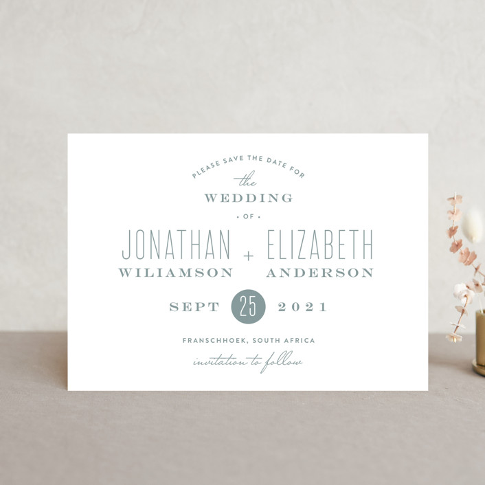 """""""Formal Plain"""" - Save The Date Petite Cards in Dove by Phrosne Ras."""