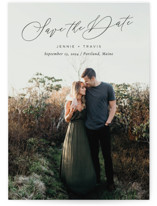 This is a black petite save the date by Sandra Picco Design called Sweetest Day with standard printing on smooth signature in petite.