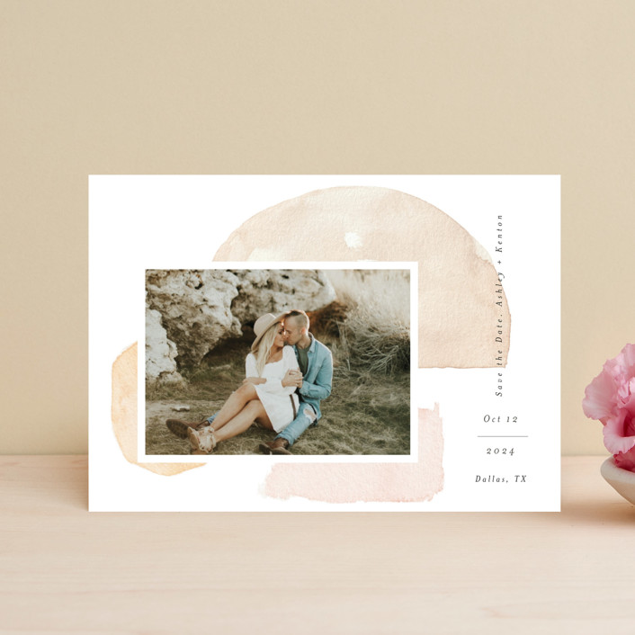 """Fika"" - Rustic Save The Date Petite Cards in Earth by Itsy Belle Studio."