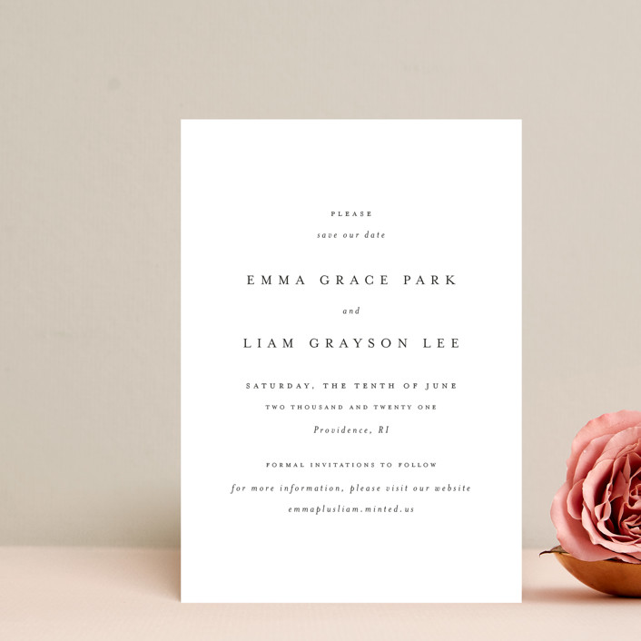 """A Thousand Years"" - Save The Date Petite Cards in Classic White by Design Lotus."