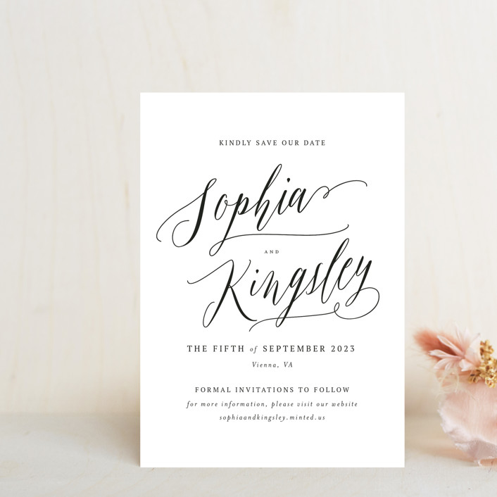 """""""Nothing Compares To You"""" - Save The Date Petite Cards in Cream by Design Lotus."""