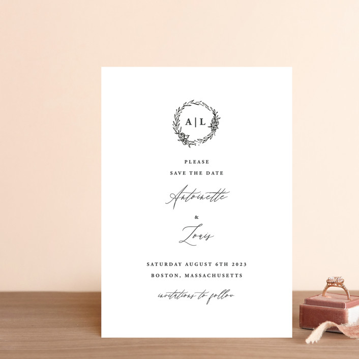 """Antoinette"" - Save The Date Petite Cards in Ivory by lulu and isabelle."