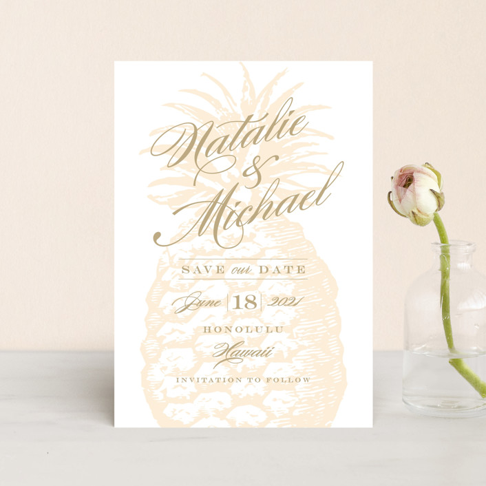 """""""Botanica"""" - Save The Date Petite Cards in Cognac by Sarah Curry."""