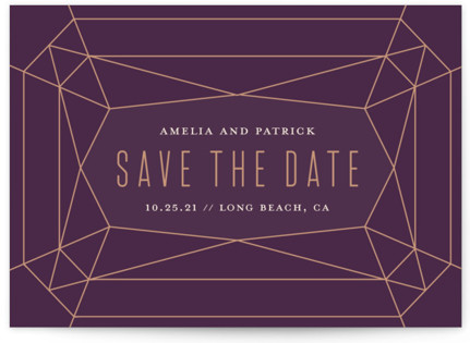 Geode Save the Date Petite Cards
