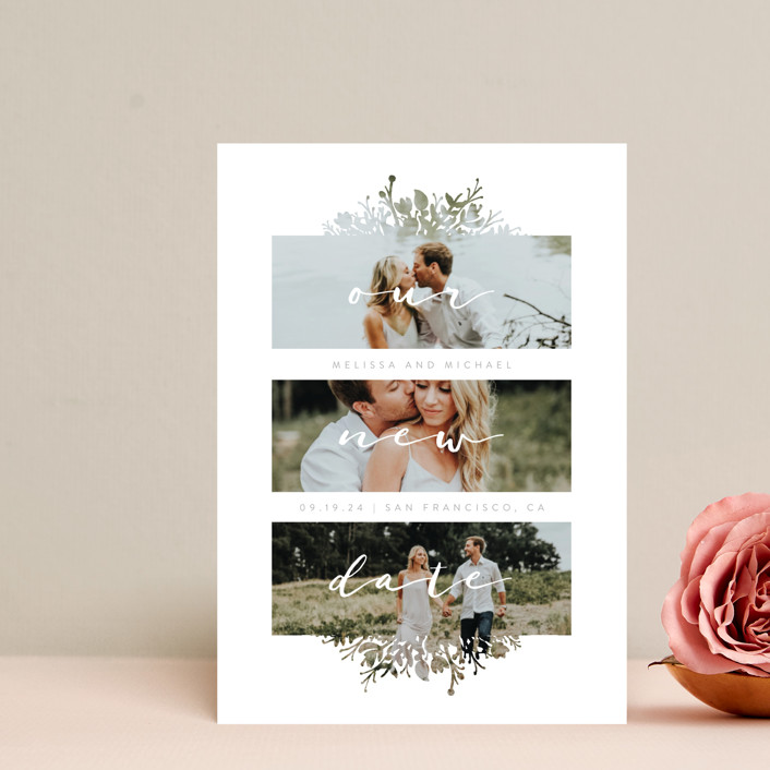 """Whispers"" - Save The Date Petite Cards in Stone by JeAnna Casper."