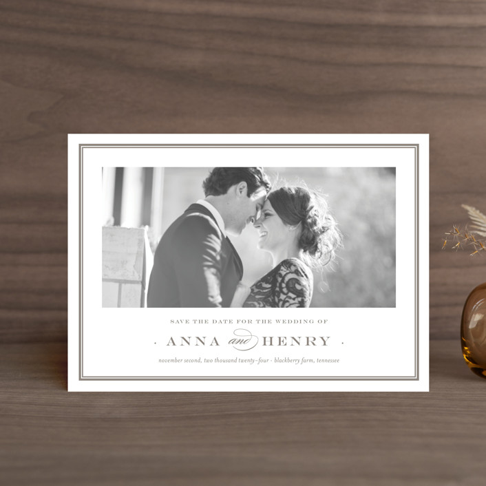 """""""Field"""" - Save The Date Petite Cards in Umber by Toast & Laurel."""