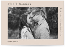 This is a pink petite save the date by Pine and Lark called Darling with standard printing on smooth signature in petite.