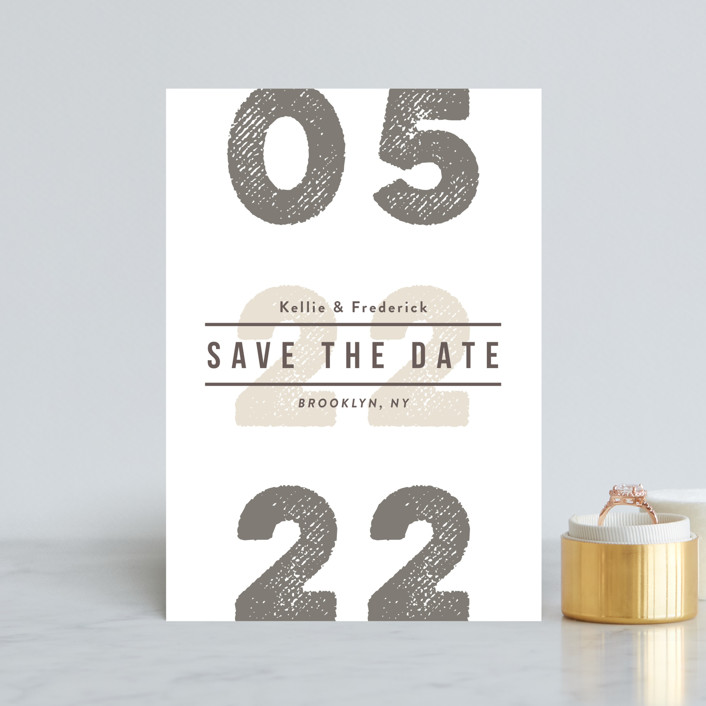 """""""Cognac"""" - Save The Date Petite Cards in Vanilla by chocomocacino."""