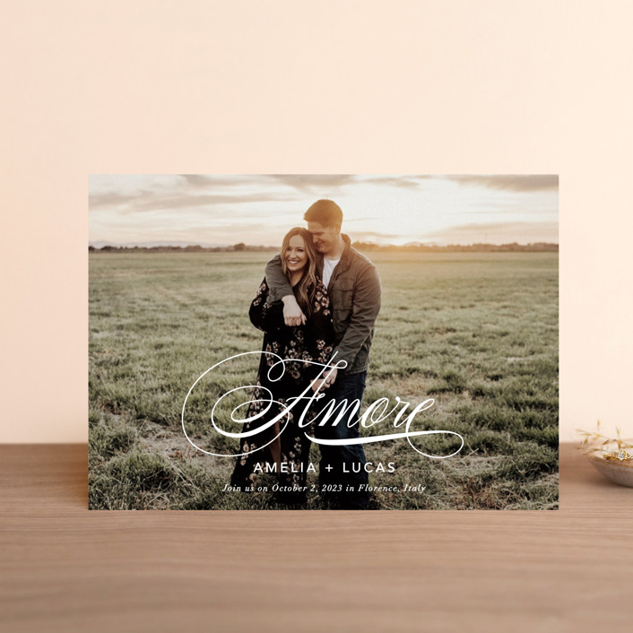 """""""giorno dell'amore"""" - Save The Date Petite Cards in Opal by Fig and Cotton."""