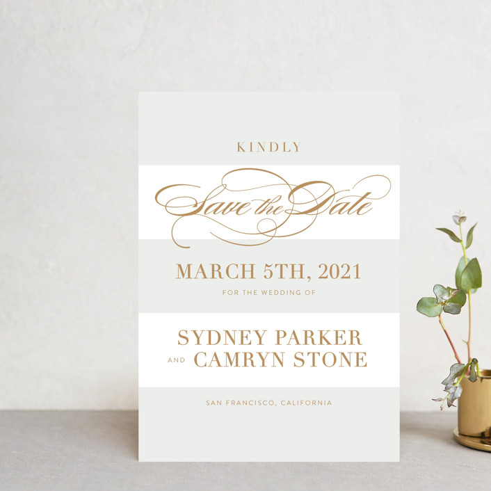 """""""Fashion District"""" - Save The Date Petite Cards in Marble by Jill Means."""