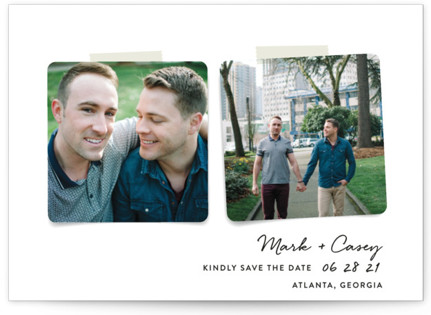 Two Become One Save the Date Petite Cards