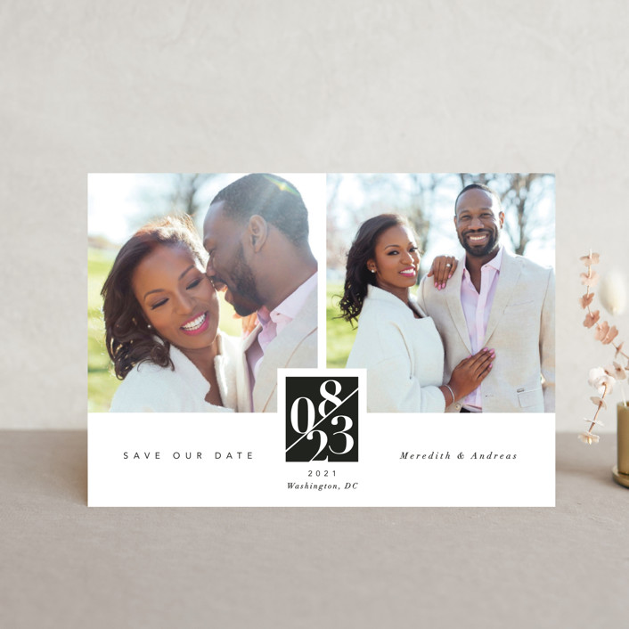 """""""classic love story"""" - Save The Date Petite Cards in Tuxedo by Susanne Kasielke."""