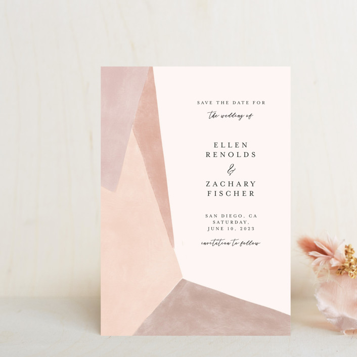 """""""Sand Shapes"""" - Modern Save The Date Petite Cards in Desert by Inkblot Design."""