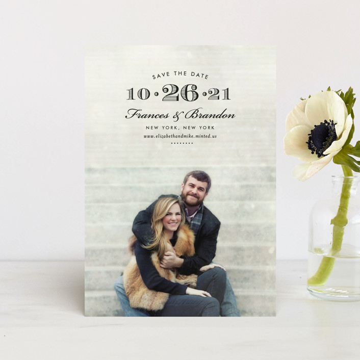 """""""Grand Central"""" - Modern Save The Date Petite Cards in Midnight by Toast & Laurel."""