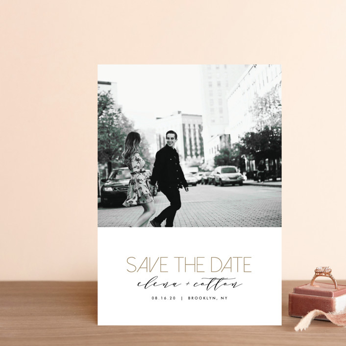 """Urban Type"" - Save The Date Petite Cards in Sugar by AK Graphics."