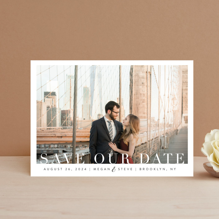 """""""Simple Elegance"""" - Save The Date Petite Cards in Clouds by Kasia Labocki."""