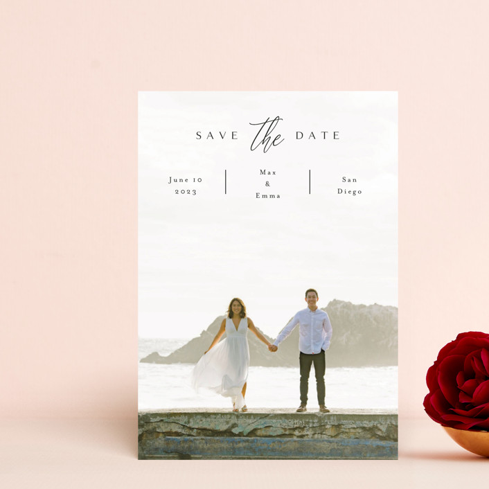 """the announcement"" - Save The Date Petite Cards in Onyx by Kasia Labocki."