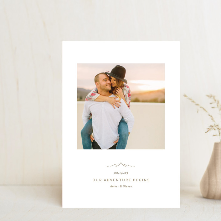 """""""Let the Adventure begin"""" - Save The Date Petite Cards in Latte by Heather Francisco."""