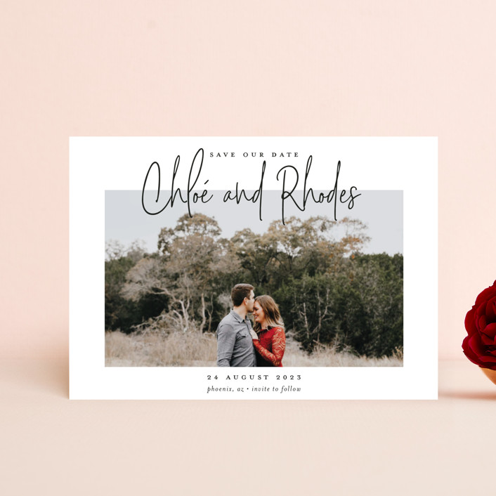 """""""Signature names"""" - Save The Date Petite Cards in Pencil by Stacey Meacham."""