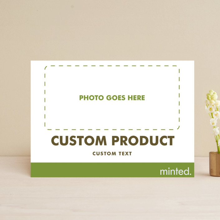"""""""FOIL Portrait Custom"""" - Save The Date Petite Cards in Charcoal by Minted Custom."""