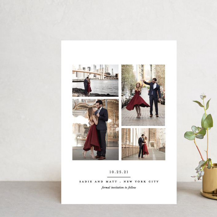 """""""Simple Minimalist"""" - Save The Date Petite Cards in Cream by Brooke Chandler."""