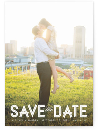 Modern Ribbon Save the Date Petite Cards