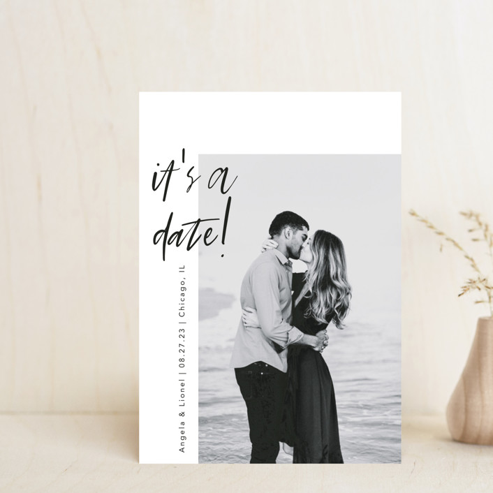 """""""A Date"""" - Save The Date Petite Cards in Ink by lulu and isabelle."""