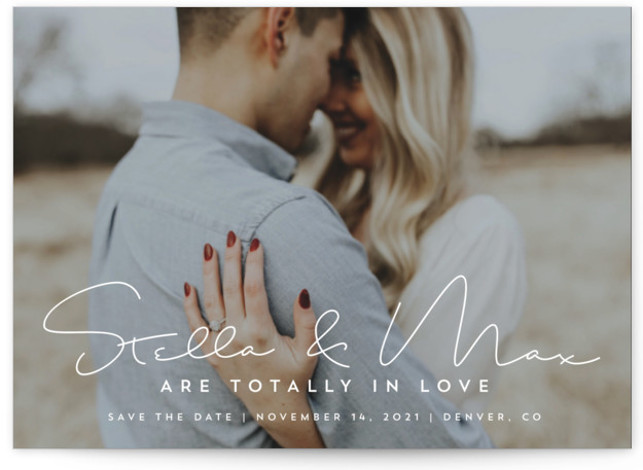 totally in love Petite Save The Date Cards
