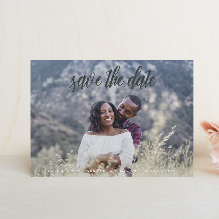 """""""mystic"""" - Save The Date Petite Cards in Flagstone by Kate Ross."""
