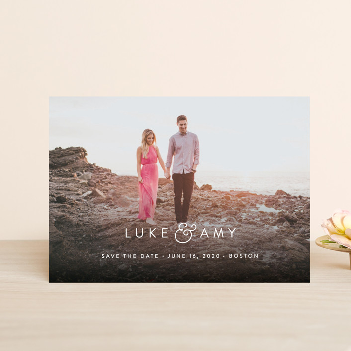 """""""Genteel"""" - Save The Date Petite Cards in Mist by Sarah Curry."""