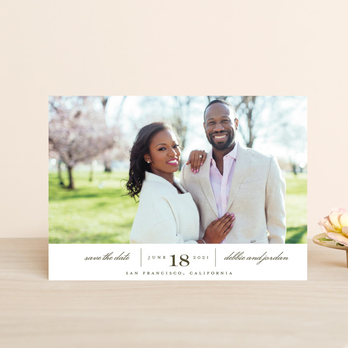 """Always"" - Save The Date Petite Cards in Coastal Haze by Eric Clegg."