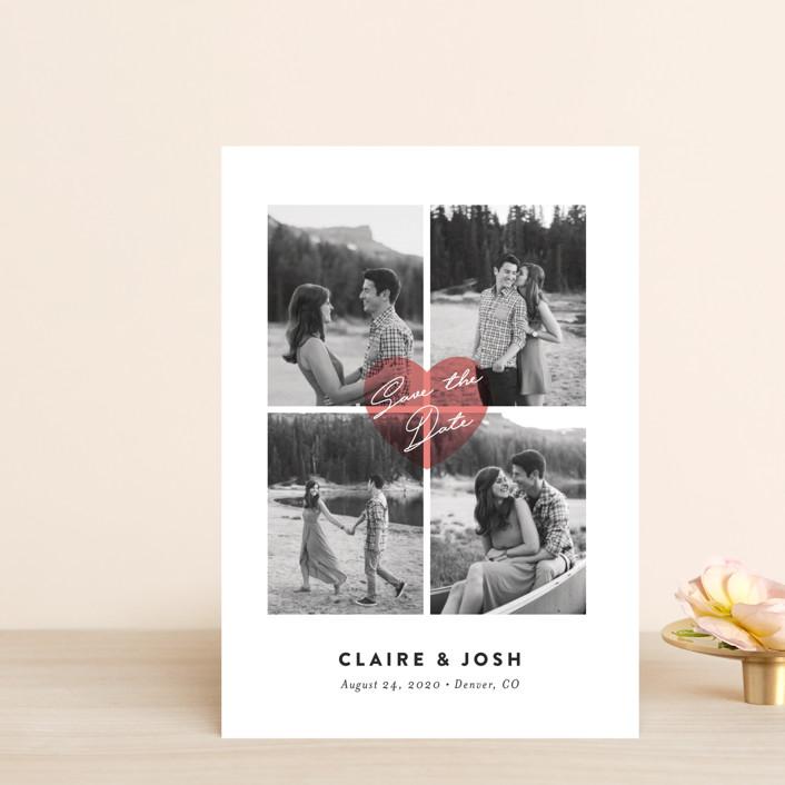 """Pure Love"" - Save The Date Petite Cards in Blush by Jana Volfova."